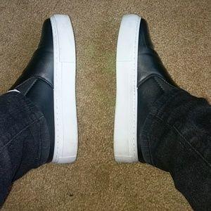 Women's Black Slip On Shoes